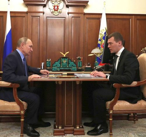 Владимир Путин и Михаил Дегтярев