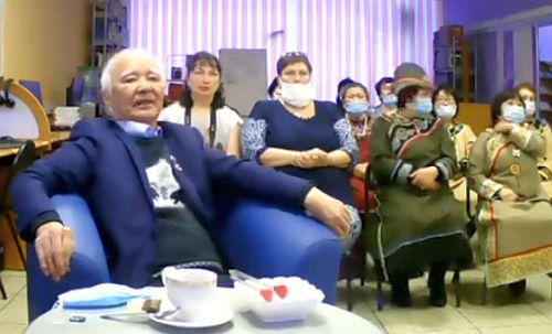 В презентации приняли участие Владимир Михайлович Санги