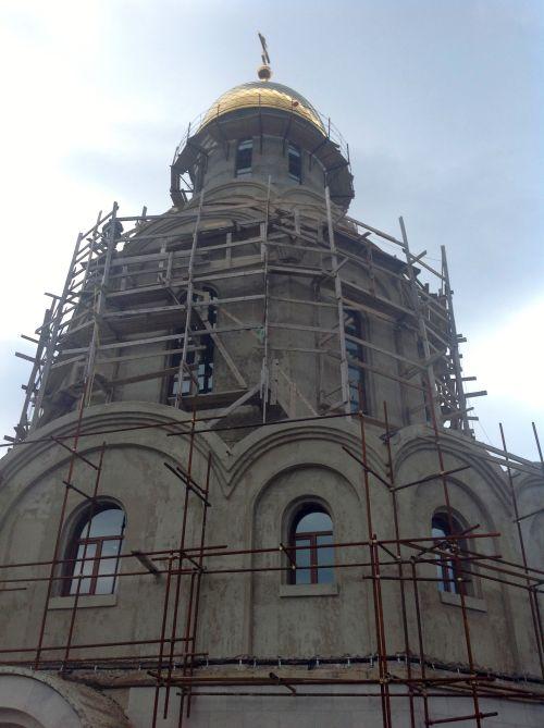 Строящийся Морской собор в Петропавловске-Камчатском.