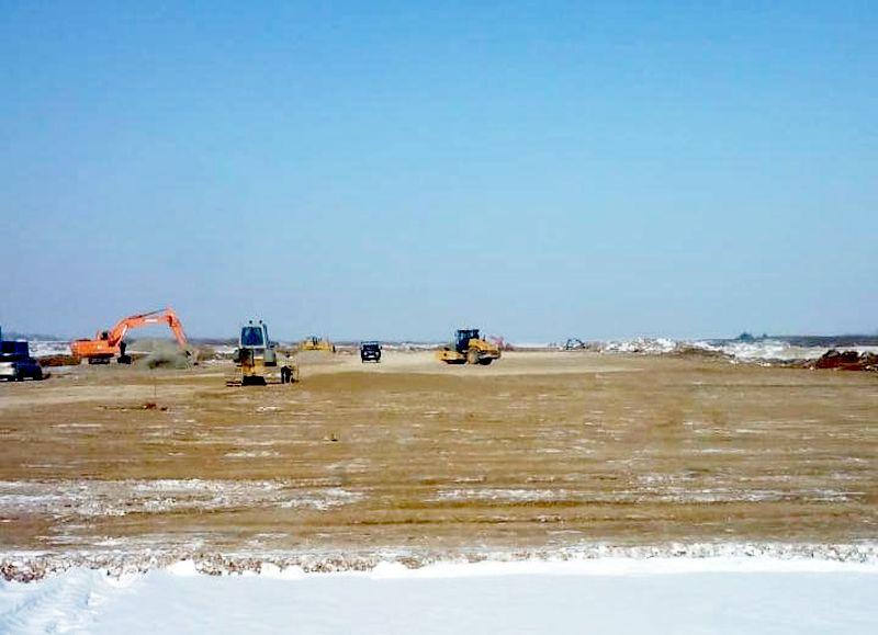 Строители новой ВПП в аэропорту Благовещенска готовы продолжать работы даже в 40 градусов мороза