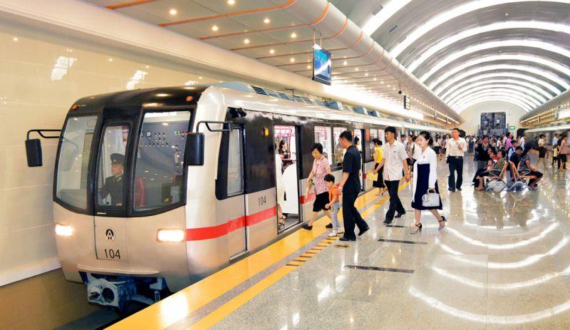 Станция Пхеньянского метрополитена.