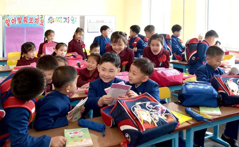 Поступившие в начальную школу дети.