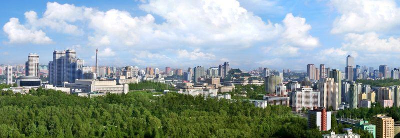 Часть города Пхеньяна.